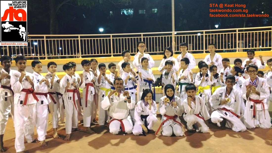Senior Instructor Alvin Ang and Toh Pei Xuan STA Keat Hong Singapore Taekwon-do Academy HQ Taekwondo