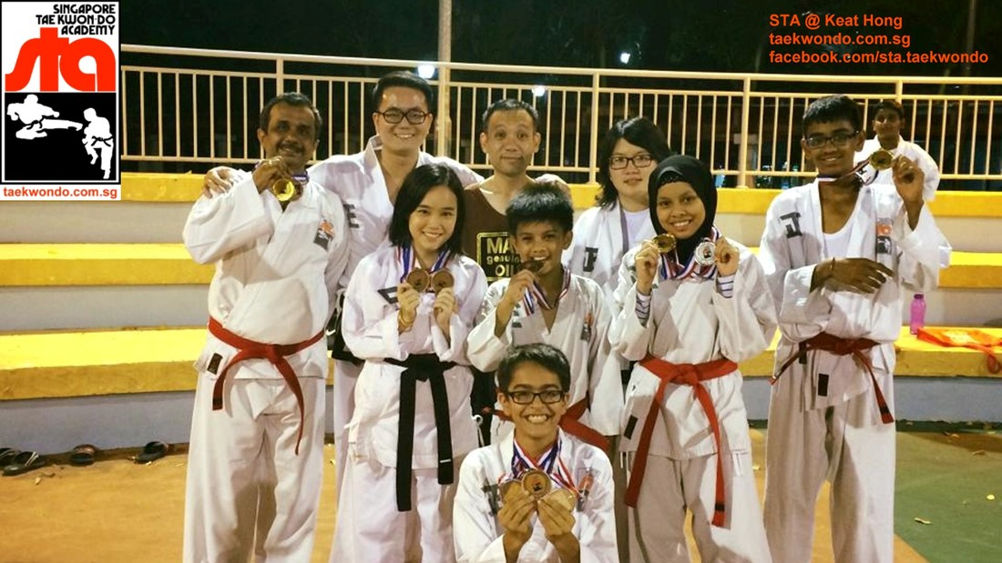 Tournament Medalist STA Keat Hong Team T3 2015 Competition Singapore Taekwon-do Academy HQ Taekwondo